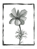 Non-embellished Sumi-e Floral IV Prints by Ethan Harper