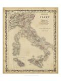 Johnson's Mapa de Italia  Lámina