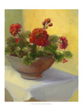 Tuscan Geraniums Prints by Mary Jean Weber