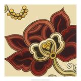Paprika Floral II Art by Erica J. Vess