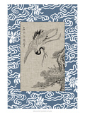Asian Crane Panel I Giclee Print