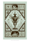Pergolesi Urns in Celadon I Posters by Michel Pergolesi