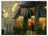 Rainy Day Pub Giclee Print by Leo Stans