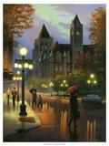 Rainy Twilight Giclee-tryk i høj kvalitet af Leo Stans
