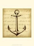 Sepia Captain's Anchor Art by Ethan Harper