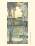 Small Nouveau Landscape I Poster by Jennifer Goldberger