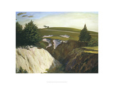 Sun Setting Behind 18th, Pasatiempo Giclee Print by Michael G. Miller