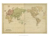 Mercator's Projection Posters
