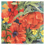 Poppy Play II Premium Giclee Print by R. Collier-Morales