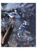 Une touche de bleu Reproduction procédé giclée Premium par Kevin Daniel