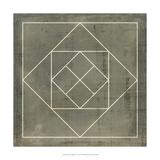 Geometric Blueprint V Affiches