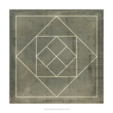 Geometric Blueprint V Prints