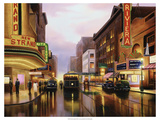 Old City Lights Premium Giclee Print by Leo Stans