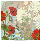 Summer Poppies I Premium Giclee Print by R. Collier-Morales