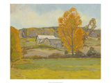 Fall Barn Giclee Print by Stephen Calcasola