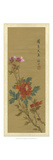 Oriental Floral Scroll I Posters