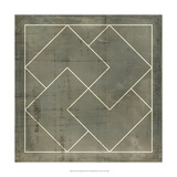 Geometric Blueprint III - Art Print