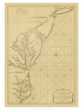 Coastal Chart of the East Coast Giclee Print by Captain N. Holland
