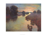 Evening Wetlands Giclee Print by Mary Jean Weber