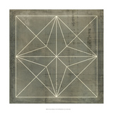 Geometric Blueprint I Affiches