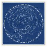 Stars and Constellations Chart Giclee-tryk i høj kvalitet