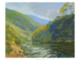 Deerfield River Giclee Print by Stephen Calcasola