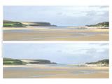 2-Up Sunlit Sands I Poster by Noah Bay