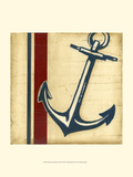 Americana Captain's Anchor Prints by Ethan Harper
