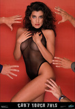 Hot Brunette in Black Swimsuit, Can Touch This, Photo Print Poster Prints