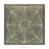 Geometric Blueprint VII Prints