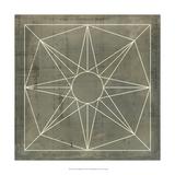 Geometric Blueprint VII Prints