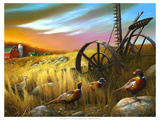 Pheasants I Reproduction giclée Premium par Leo Stans