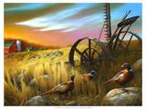 Pheasants I Giclée-Premiumdruck von Leo Stans