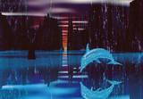 Virtual Lagoon (CG Dolphin) Art Poster Print Posters