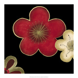 Pop Blossoms in Red II Prints by Erica J. Vess