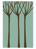 Dichromatic Elms I Print by Vanna Lam