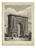 Porte St. Denis Prints by A. Pugin