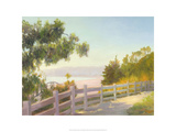 View of Malibu, Santa Monica, California Giclee Print by Michael G. Miller