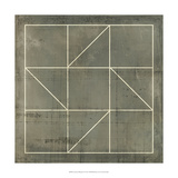 Geometric Blueprint IV Plakát