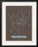 Philadelphia Art by  Line Posters