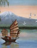 Alan Fairbrass Oriental Junk Art Print Poster Posters