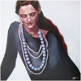 Periwinkle Beads Giclee Print by A. Fife