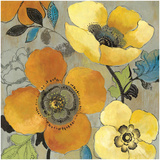 Yellow and Orange Poppies I Prints by Allison Pearce