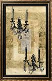 Brocade Sconces Framed Giclee Print by Pyper Morgan