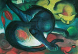 Franz Marc (Two Cats) Art Poster Print Masterprint