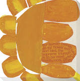 Big Orange Flower Stretched Canvas Print by  KOCO