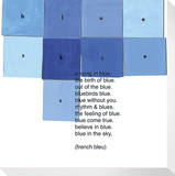 Blue Squares (French Bleu) Stretched Canvas Print by  KOCO