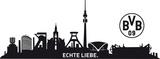 BVB-Skyline mit Logo - 2 Bögen Wandtattoo