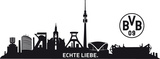 BVB Skyline Mit Logo-2 sheets wandtattoos