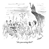 """Are you seeing this?"" - New Yorker Cartoon Premium Giclee Print by Tom Cheney"